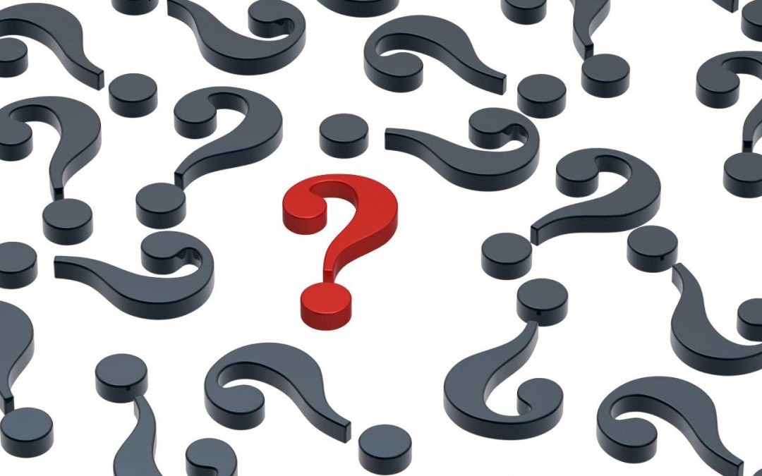 A bunch of question marks signifying self-doubt